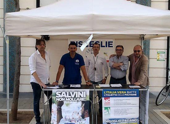 Lega Salvini Premier Bisceglie scende in piazza, stop su tre tematiche
