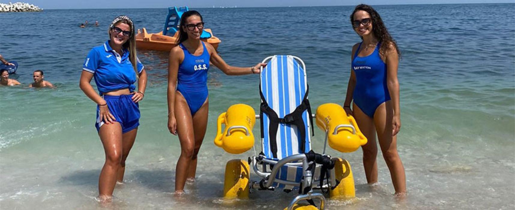 Riparte il servizio per l'accesso in mare delle persone disabili