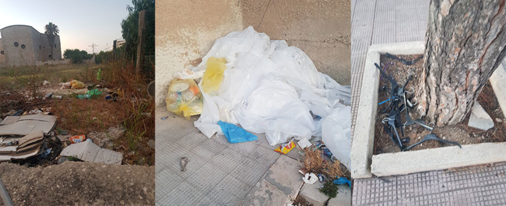 """Cittadina scrive a Bisceglie24, """"Continua presenza di rifiuti in zona mercato settimanale"""" / FOTO"""