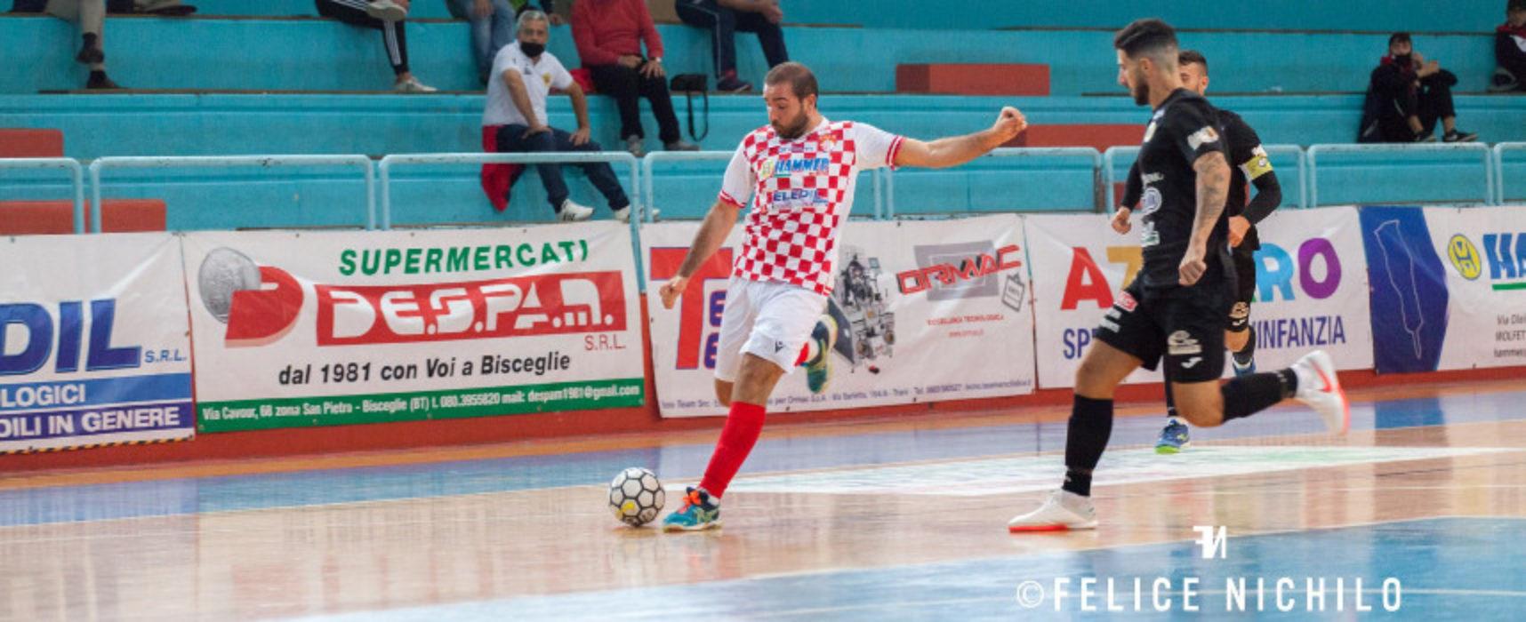 Calcio a 5, Nettuno Bisceglie sull'ottovolante, ko per Diaz e Futbol Cinco