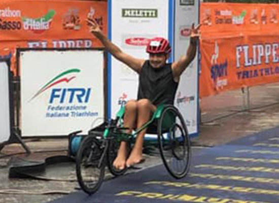 Mauro Preziosa medaglia di bronzo ai Campionati Italiani di Paratriathlon