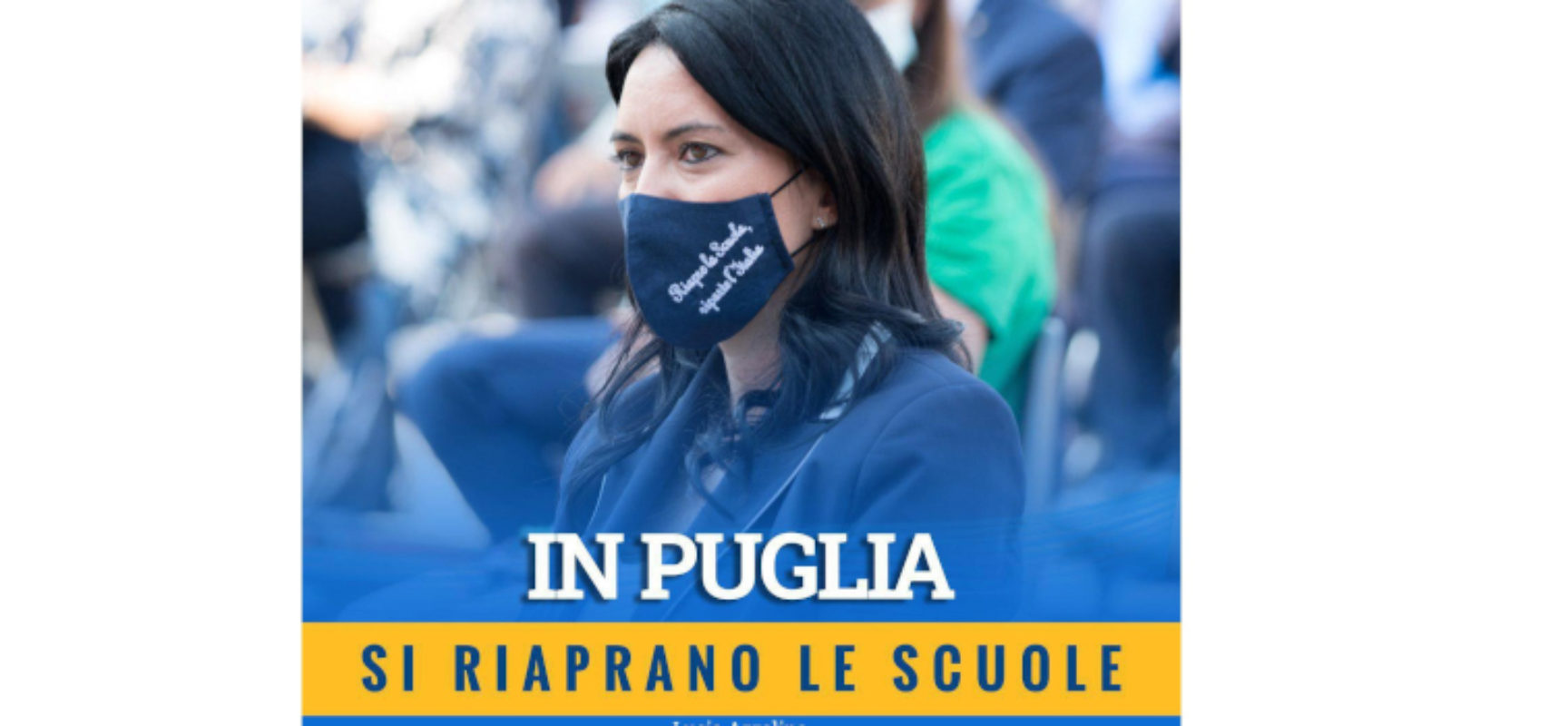 """Ministra Azzolina: """"In Puglia si riaprano le scuole. I contagi avvengono fuori, non negli istituti"""""""