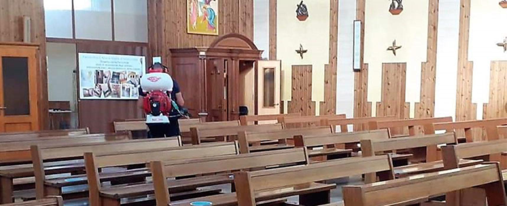 Sanificata chiesa Misericordia, pronta alla riapertura ai fedeli. Sospesi sacramenti e catechismo