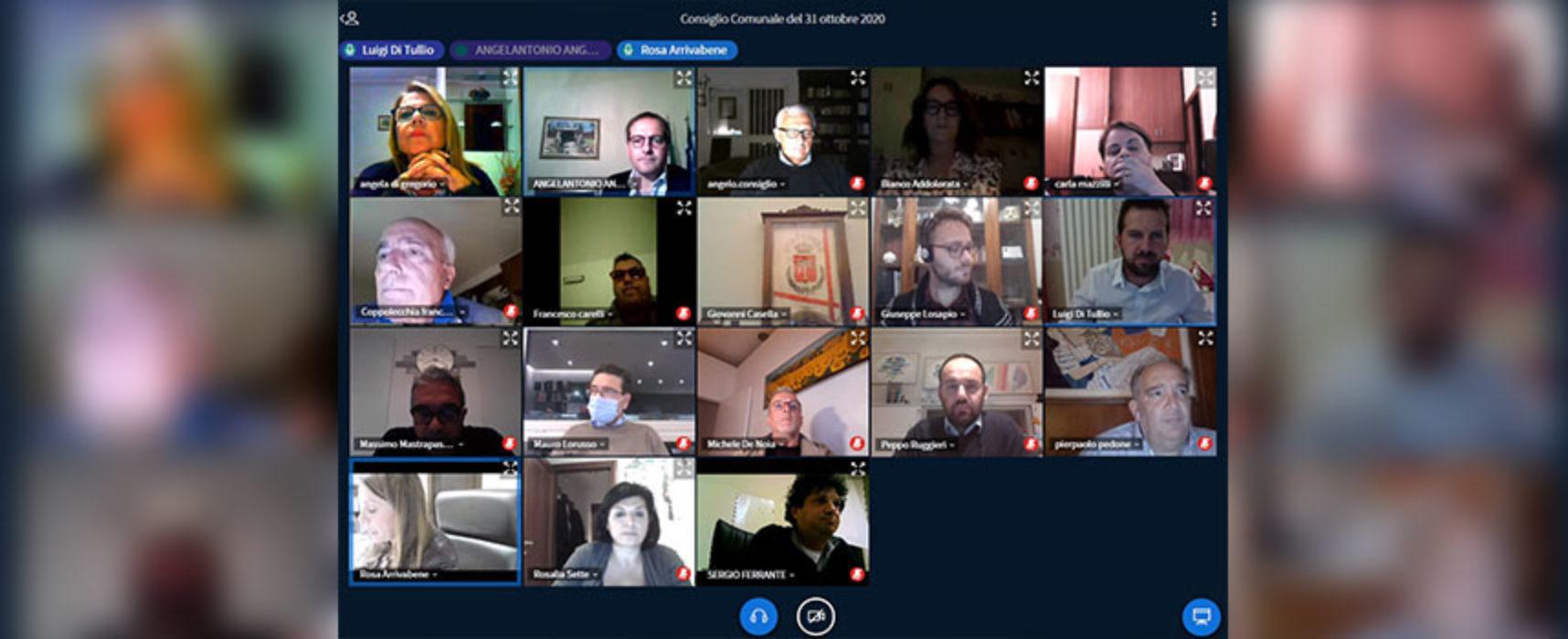 Consiglio comunale in videoconferenza, i punti in discussione
