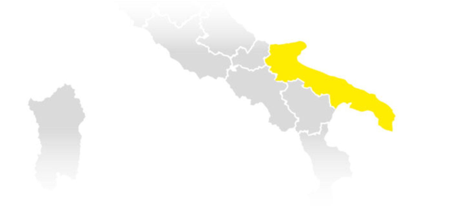 Puglia conferma zona gialla: i dati del monitoraggio della cabina di regia