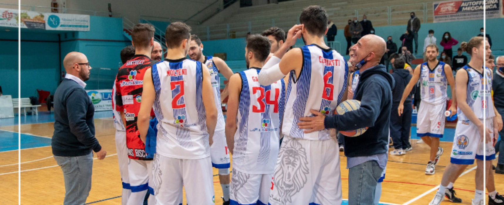 Basket, Alpha Pharma Bisceglie batte Catanzaro e vola in classifica