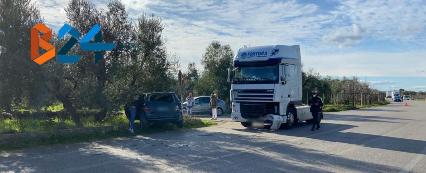 Scontro tra due mezzi sulla Bisceglie-Andria , ferito un 75enne
