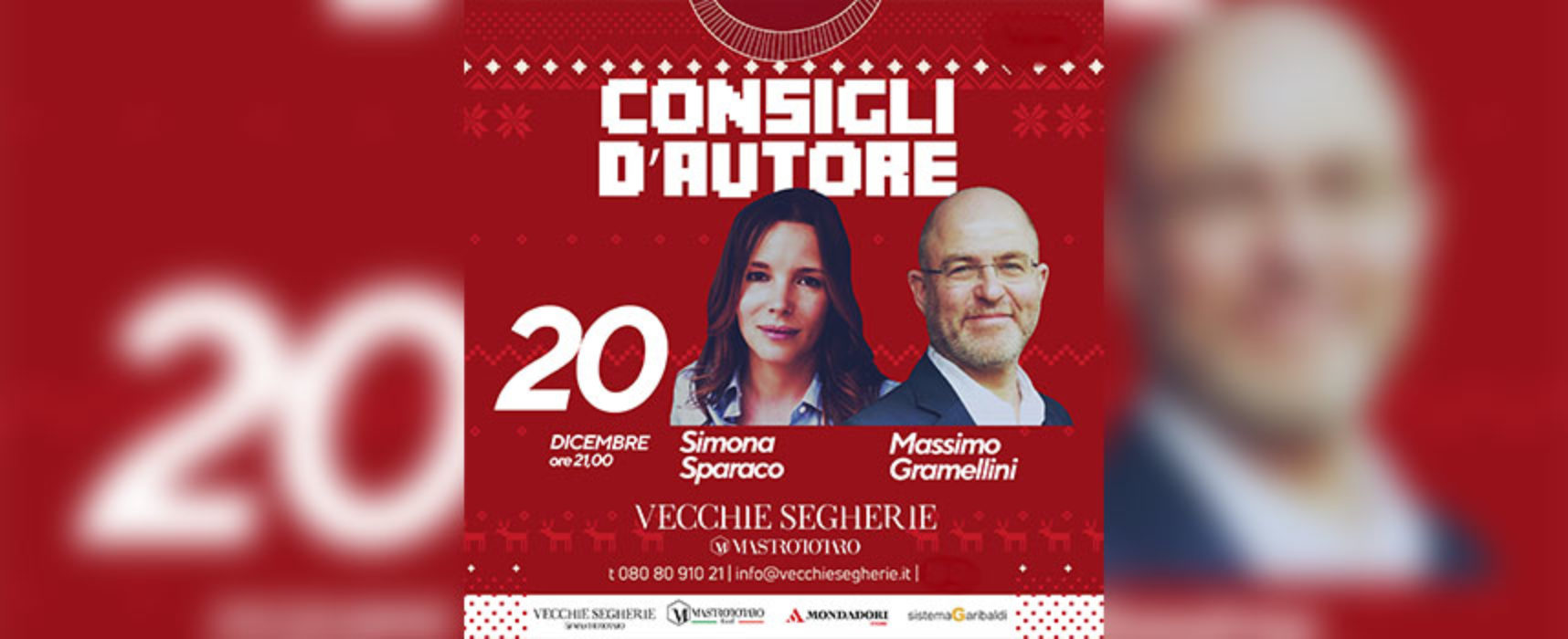 Consigli d'Autore, stasera doppio appuntamento con Sparaco e Gramellini / DIRETTA FACEBOOK su Bisceglie24