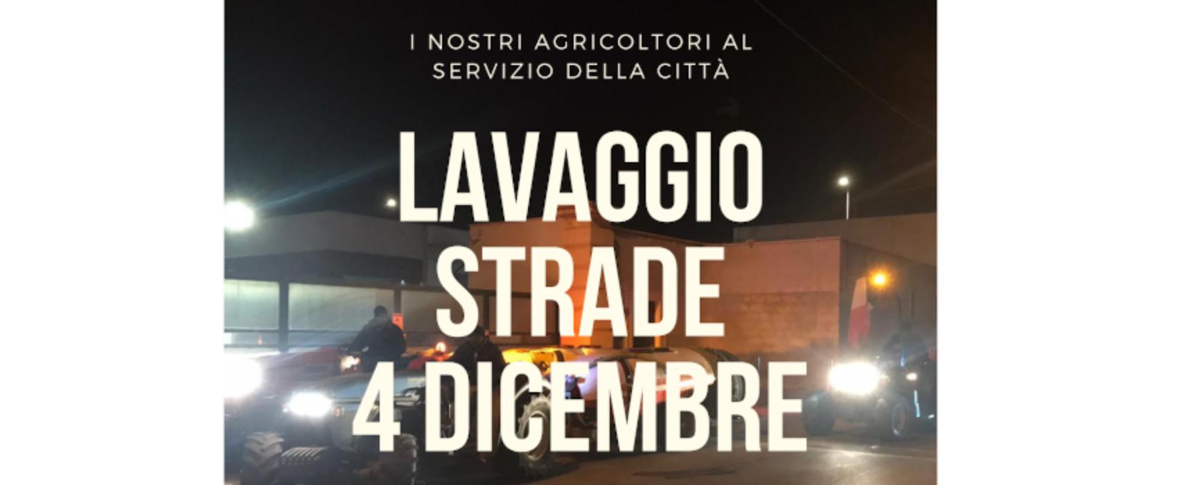 """Lavaggio straordinario strade pubbliche con uso di trattori, Angarano: """"Grazie agli agricoltori"""""""