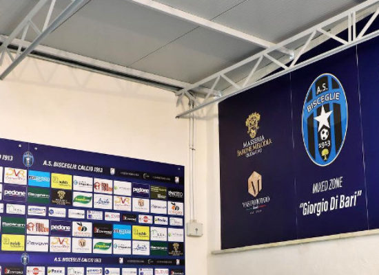 """Bisceglie Calcio, inaugurata la mixed zone """"Giorgio Di Bari"""""""