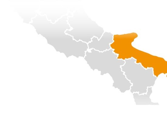 Covid, la Puglia nuovamente zona arancione dal 17 gennaio