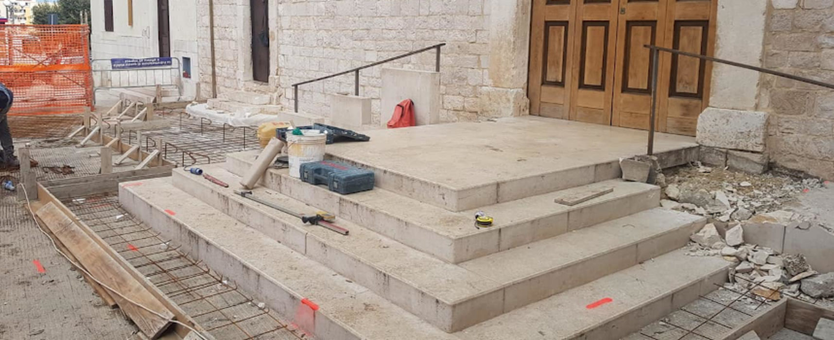 Parrocchia san Lorenzo, al via i lavori per abbattimento barriere architettoniche / FOTO