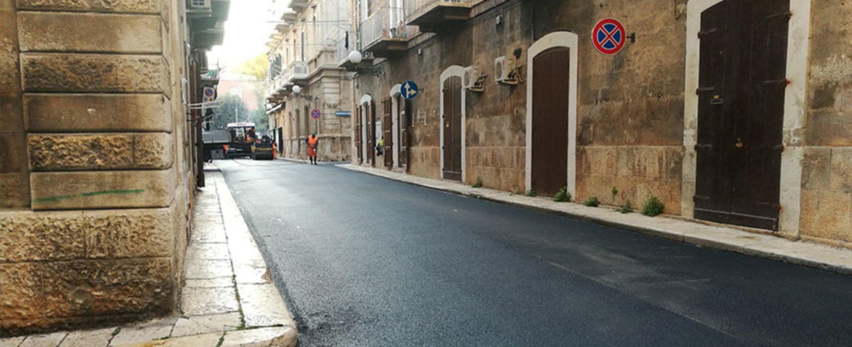 Completati lavori di rifacimento manto stradale in zona Sant'Agostino / FOTO