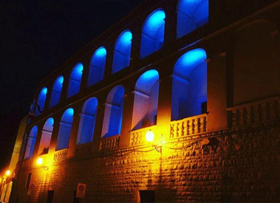 Illuminato di blu Palazzo San Domenico per i 116 anni del Rotary
