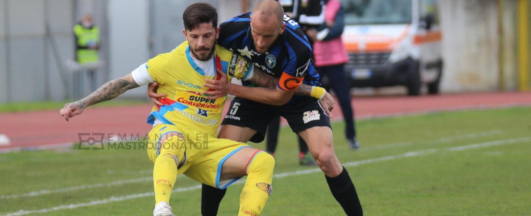 Il Bisceglie resiste un tempo contro il Catania