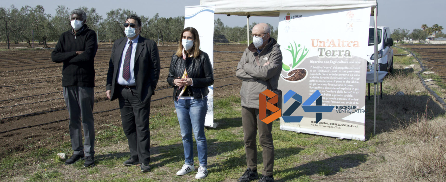 """A Bisceglie il progetto """"Un'altra terra"""": lavoro, solidarietà e futuro nell'agro"""