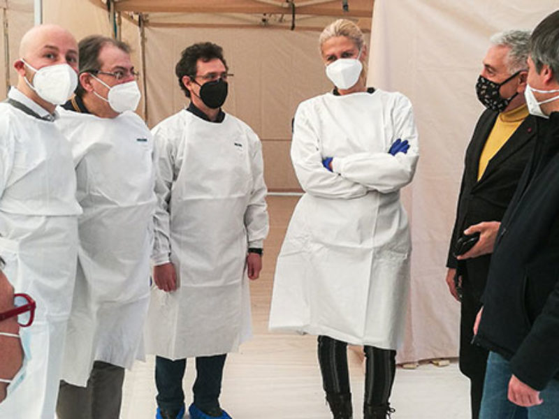 """Continuano vaccinazioni a Bisceglie, Angarano: """"Struttura a disposizione per prosieguo della campagna"""" / FOTO"""