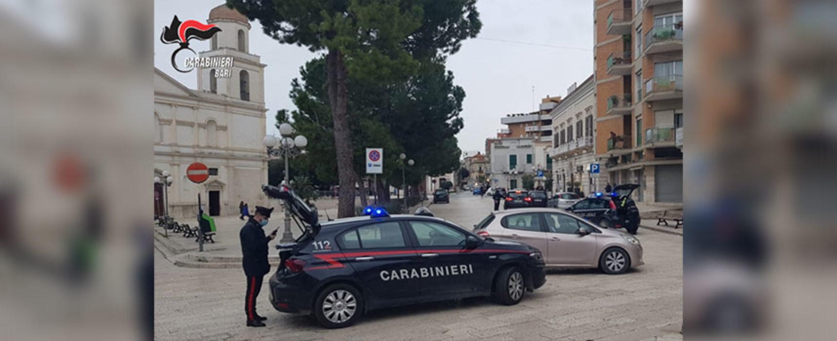 BAT: controlli dei carabinieri nel primo week end di zona rossa