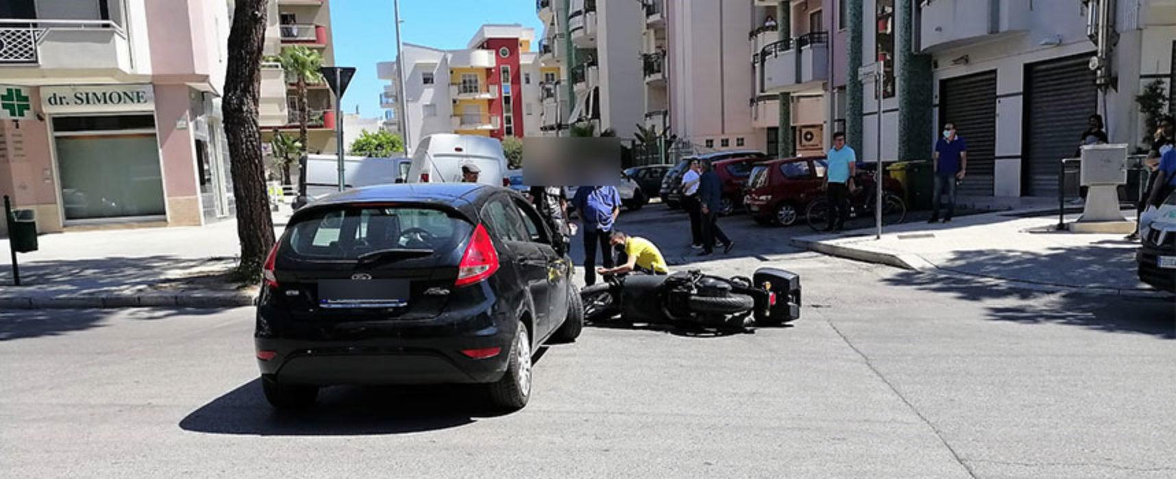 Incidente su via Di Vittorio, ferito un 72enne biscegliese
