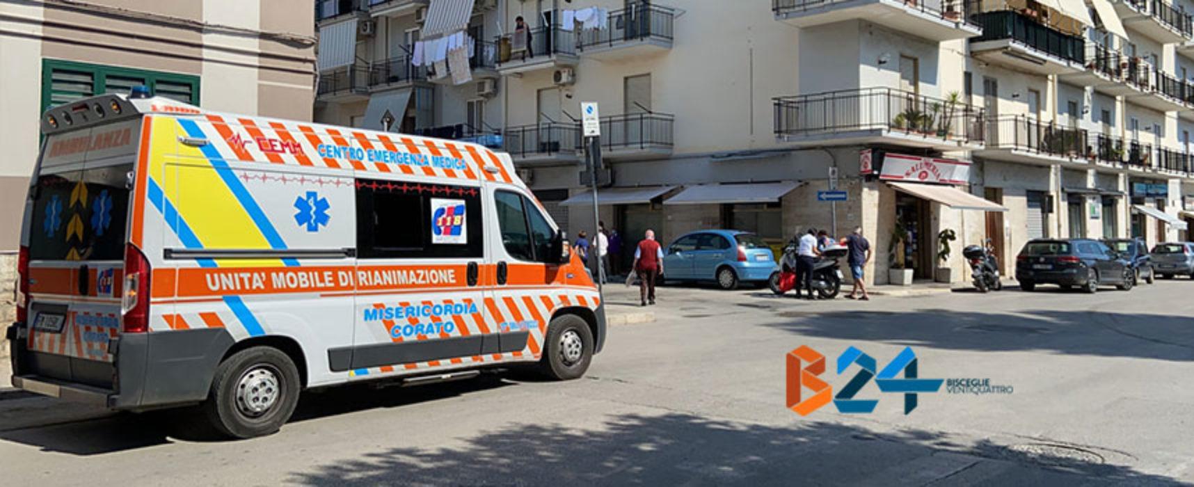 Incidente su via Seminario, ferito uomo a bordo di uno scooter