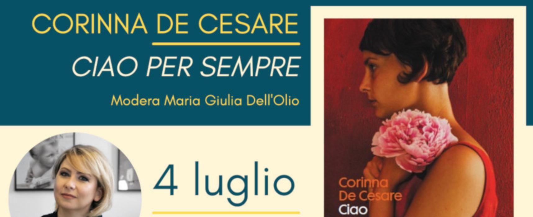"""Al via rassegna """"Prendi un romanzo al chiar di luna"""" con De Cesare e il suo """"Ciao per sempre"""""""