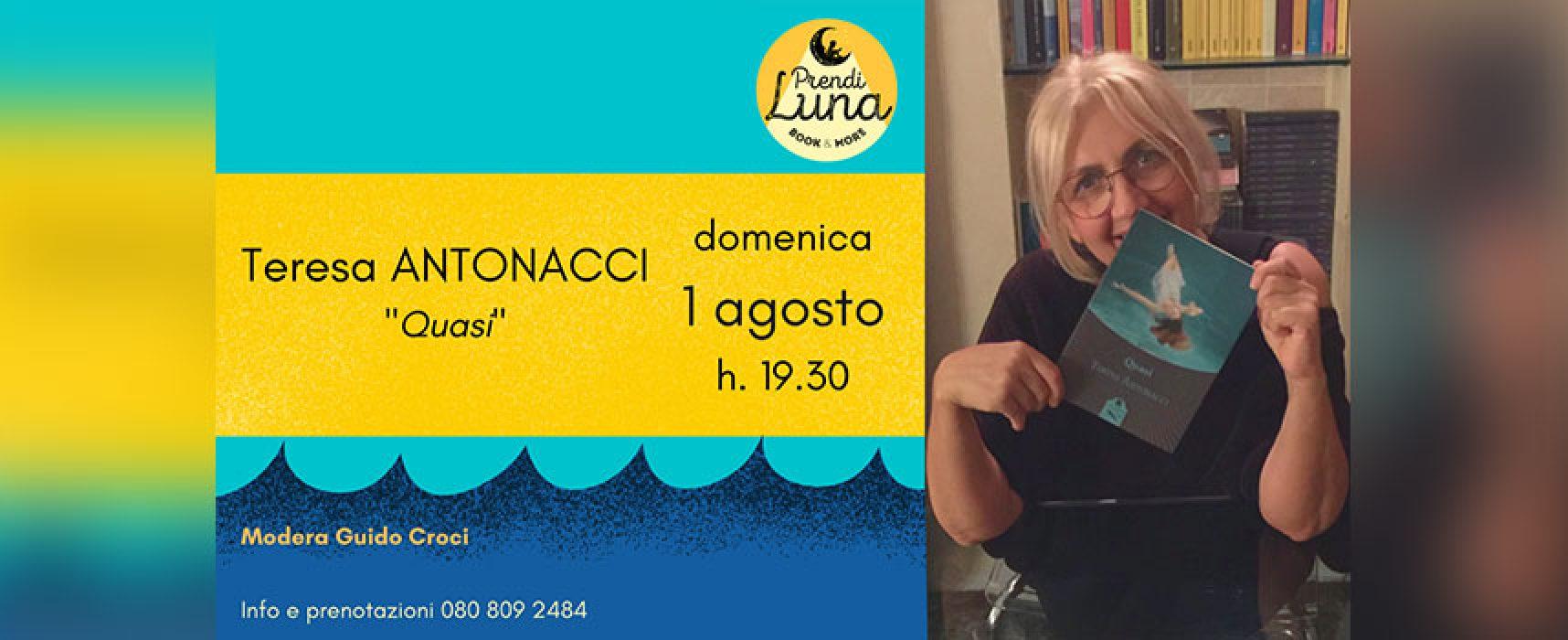 """""""Prendi Luna book & more""""  ospita la scrittrice molfettese Teresa Antonacci"""