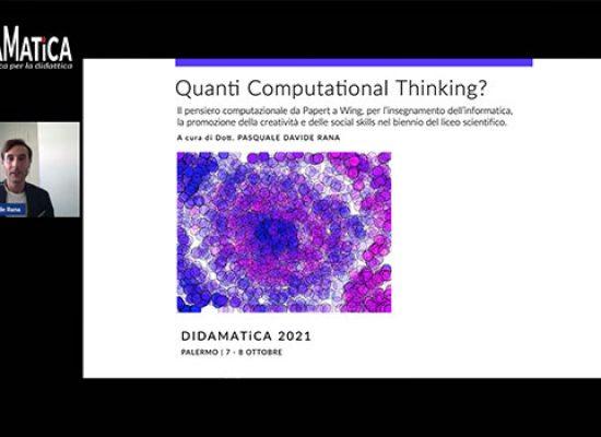 Il biscegliese Rana pubblica nuovo lavoro sul pensiero computazionale