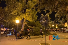 Ramo cade in piazza Vittorio Emanuele 6