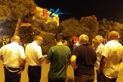 Ramo cade in piazza Vittorio Emanuele 4