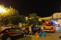 Ramo cade in piazza Vittorio Emanuele 5